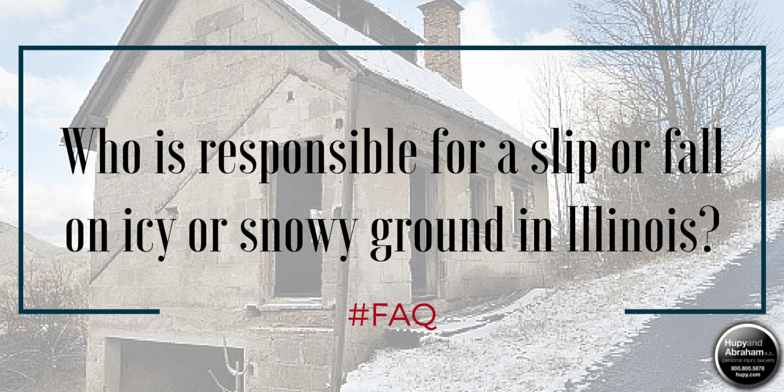 Illinois property owners are rarely held responsible for falls on naturally accumulating snow and ice