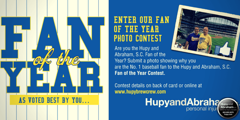 Enter the Hupy and Abraham Fan of the Year photo contest today!