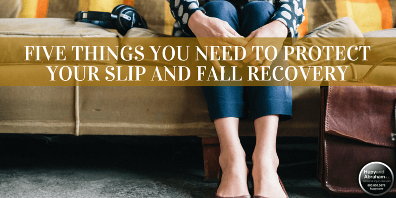 Be aware of the five key tips to handling your slip and fall accident case