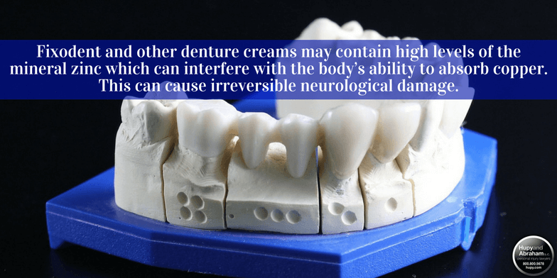 Zinc poisoning can be a side effect of using some denture adhesives