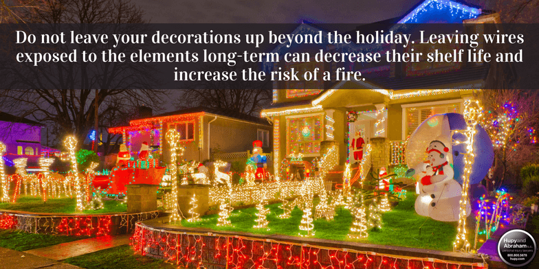 Check out these four common holiday fire hazards, and tips for safe decorating!