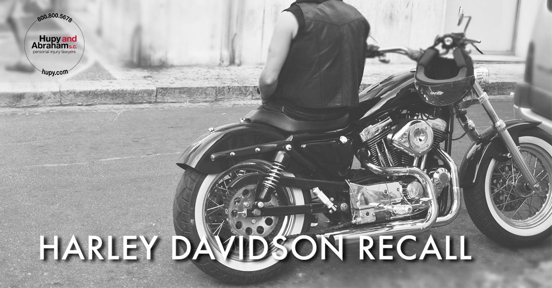 Harley Davidson Recall with motorcycle in background