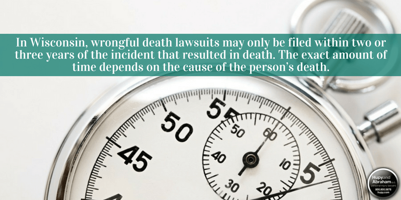 Your time is very limited to file a wrong death claim in Wisconsin