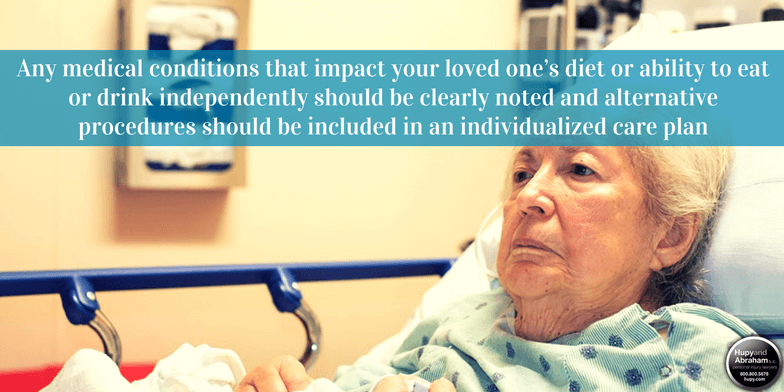 Malnutrition or dehydration can be a dangerous result of nursing home neglect