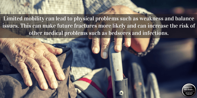 Staff negligence at a nursing home can cause broken bones.