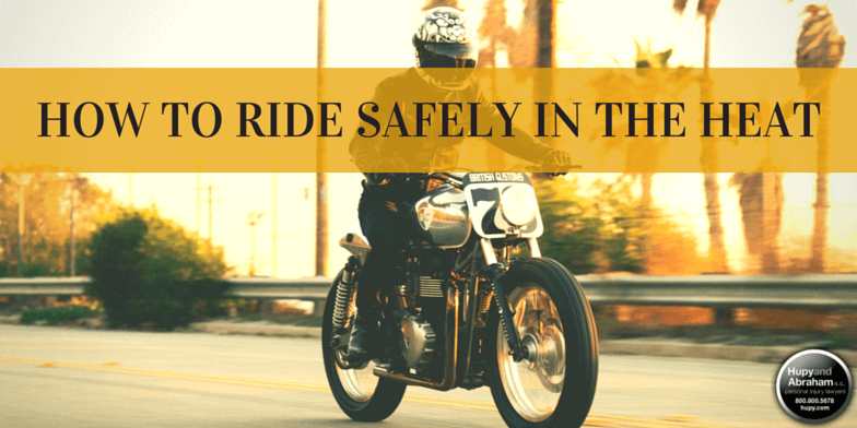 We're in the middle of record temperatures this summer, learn how to recognize the signs of heat danger while riding.