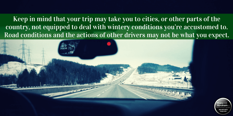 Hupy and Abraham's Tips for Long Distance Winter Driving