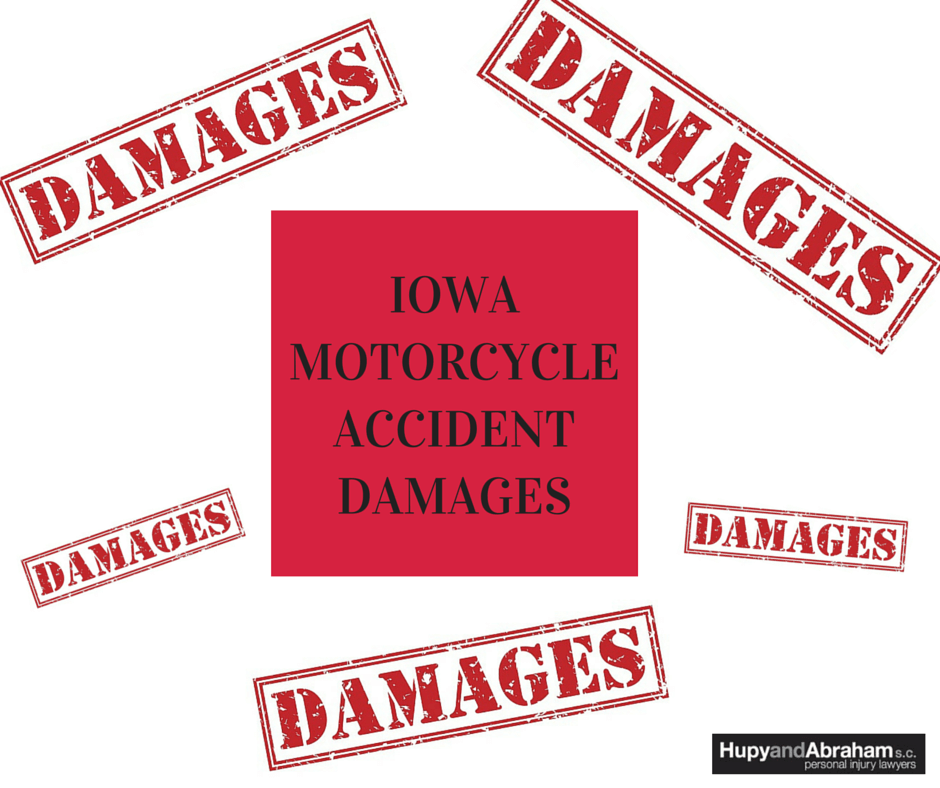 You may demand several categories of damages after a serious Iowa motorcycle crash