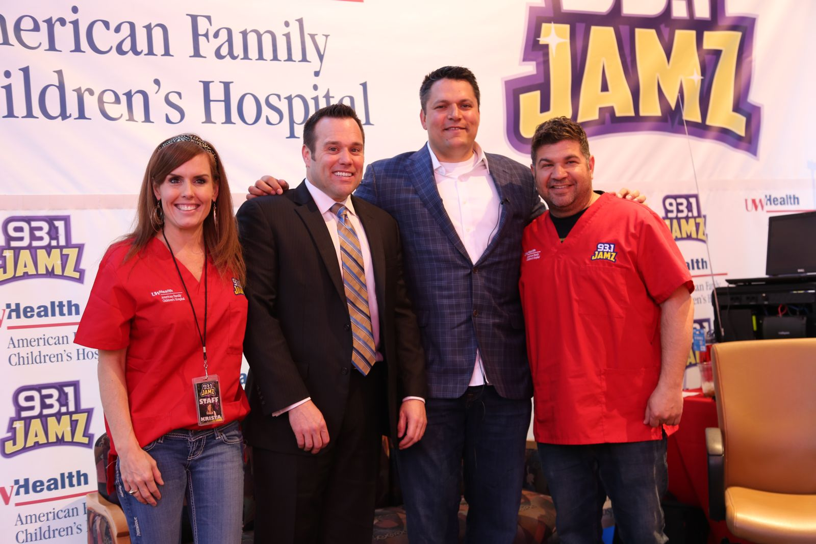 Hupy and Abraham attorneys at Radiothon Event