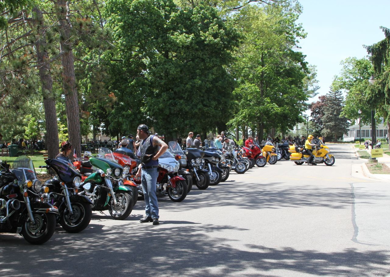 Motorcyclists at Veterans Home at King