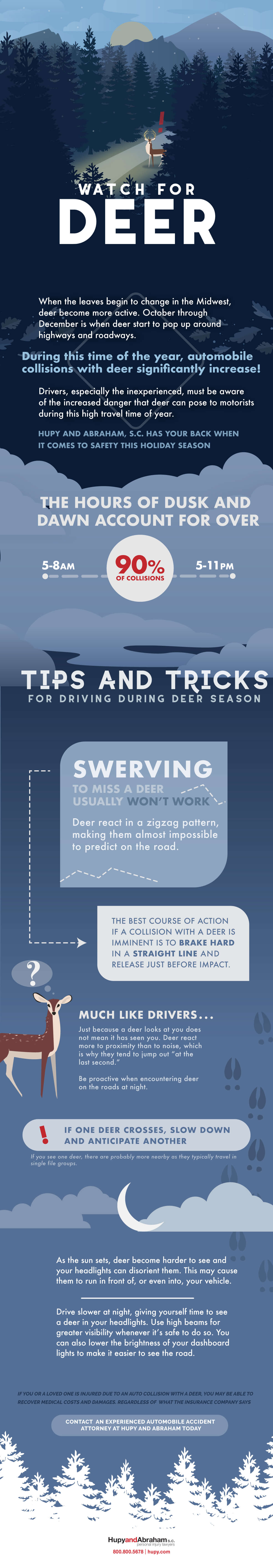 Save this deer safety infographic! Watch for Deer!