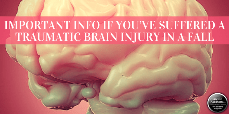 Seek immediate medical attention if a fall accident may have caused a brain injury