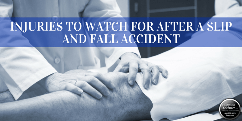 Even what seems like a minor fall or trip can produce severe injuries