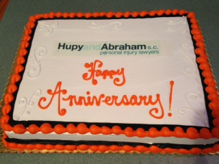 Happy Anniversary Hupy and Abraham cake