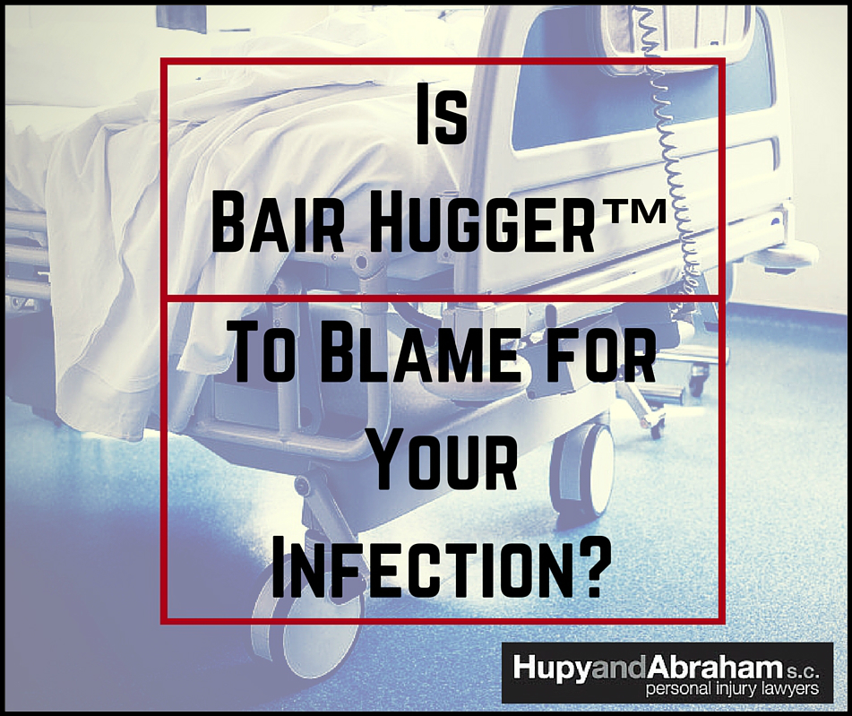 Picture with hospital bed with text...is bair hugger to blame for your injection