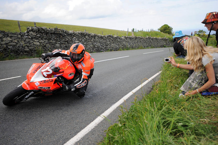 The Isle of Man TT motorcycle racer