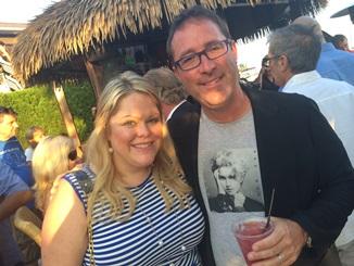 Attorney Jason Abraham and Jill Wellskopf attend Yacht Blast 2014