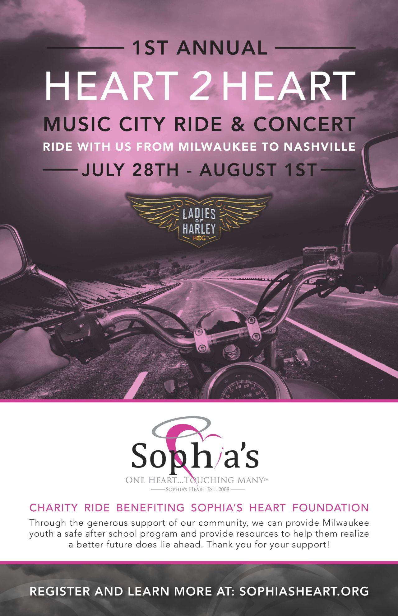 Poster of Sophia's Heart 2 Heart event