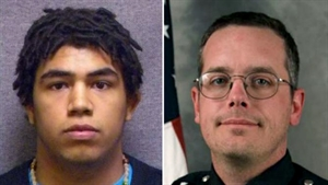 Picures of Ront Robison and Officer Matt Kenny after tragic death