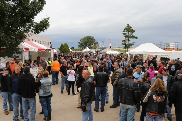 Motorcycle event crowd