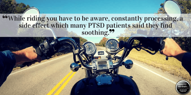 Motorcycle riding has shown effective in veterans suffering from PTSD