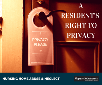 Privacy sign on nursing home residents door