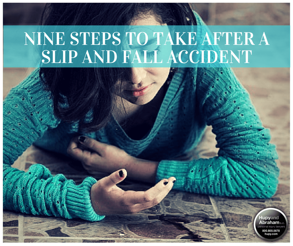 Learn the essential steps you must take after a slip and fall accident