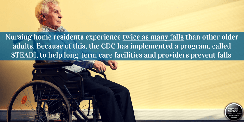 The CDC's STEADI program may be able to help prevent resident falls.