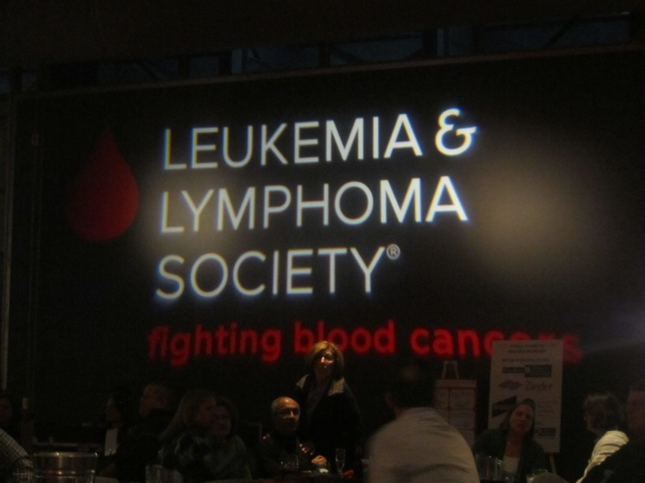Leukemia & Lymphoma Society sign
