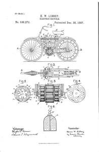 1895 electrical bicycle patent