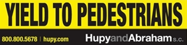 Yield to Pedestrians stickers