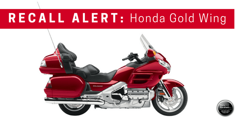 RECALL ALERT with Red Honda Gold Wing