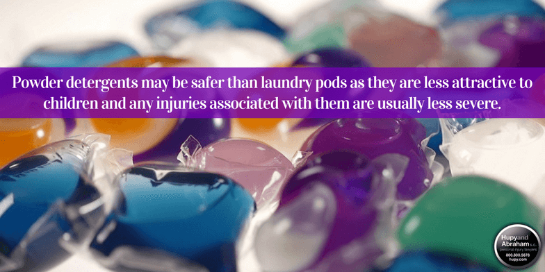 Laundry detergent pods are shown to cause more injuries than any other house-hold cleaners