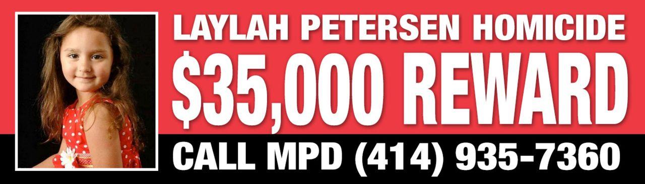Reward Billboard for Laylah Petersen homicide