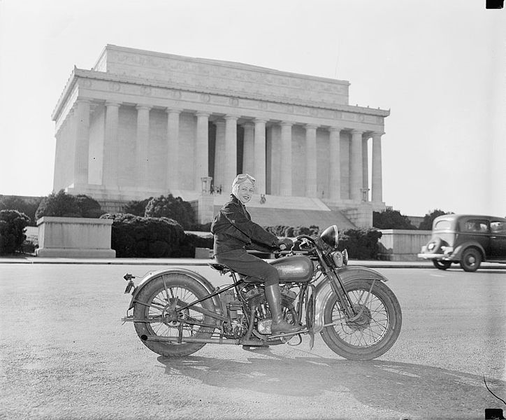 Sally Halterman, the first woman to be granted an M licence in the district of Columbia, 1937