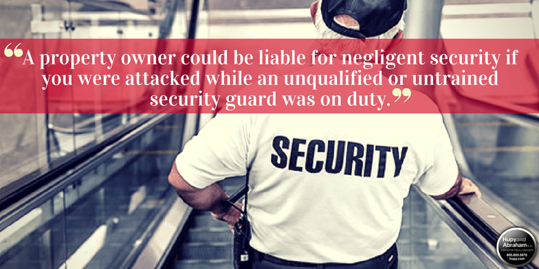 Security guards must be adequately trained and equipped