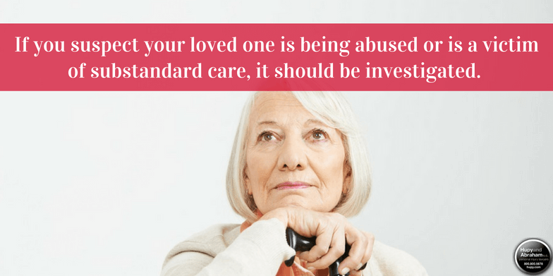 The signs of nursing home abuse may include changes in your loved one's temperament