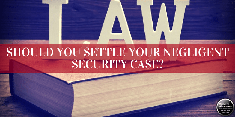 The law determines what you might recover in your negligent security settlement