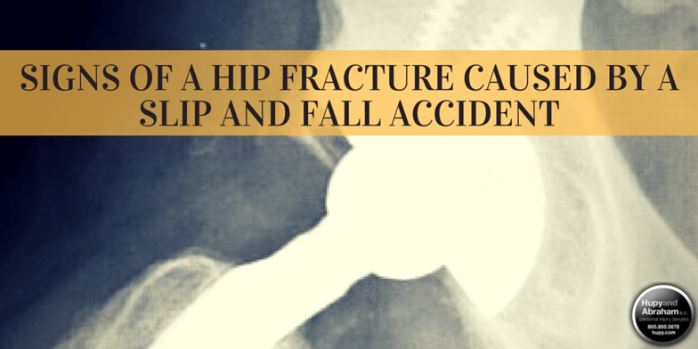 Surgery may be required for a slip-and-fall hip injury