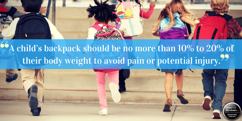 Take steps to prevent back injuries by making sure kids are wearing the right backpack.