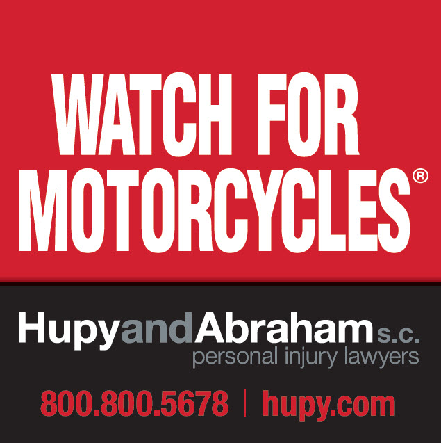Watch for motorcycles sticker red