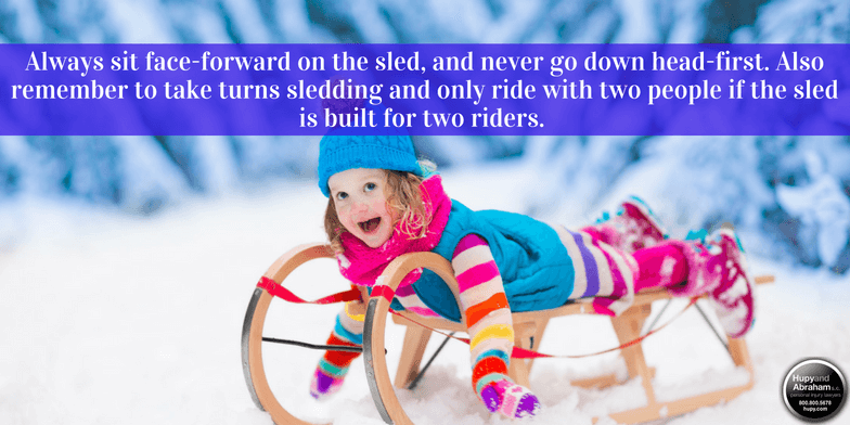 Staying Safe on Sleds During the Winter
