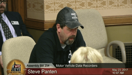 Steve Panten speaking at hearing