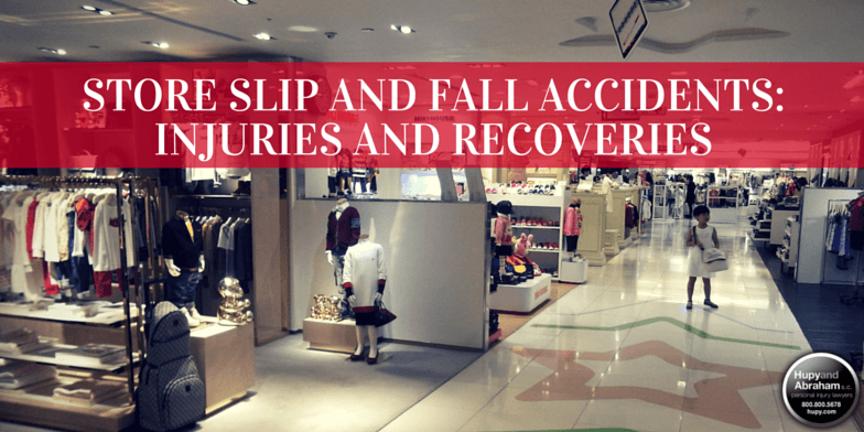 Department stores are often sites for slip, trip, and fall accidents