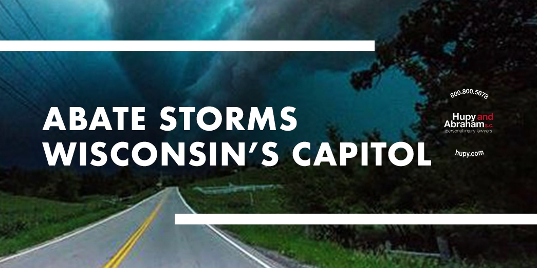 Abate Storms Wisconsin's Capitol