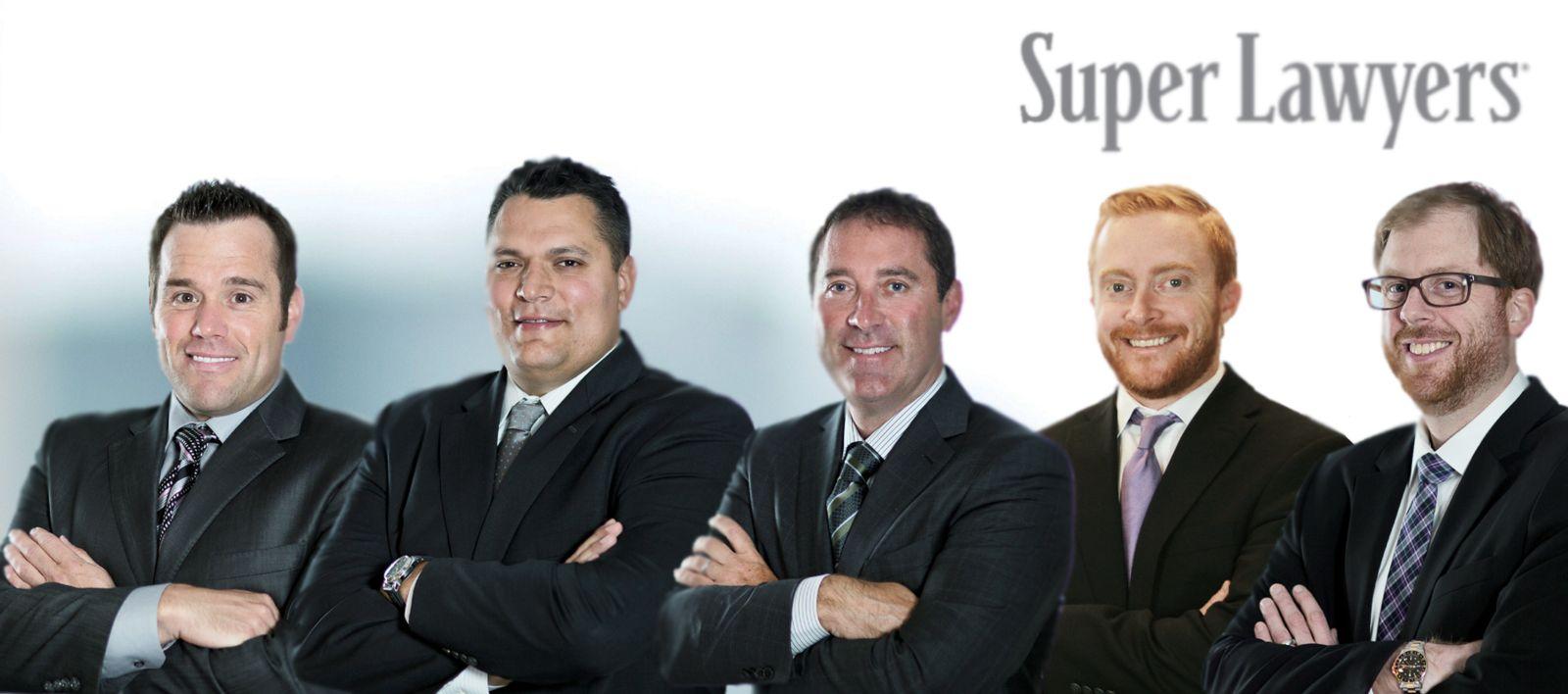 Attorneys Jason Abraham, Chad Kreblin, Brandon Derry, Rober t Domol highligheted by Super Lawyers
