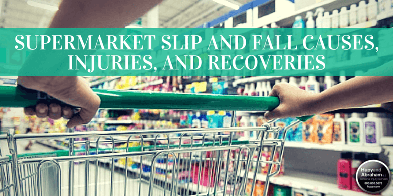 Spilled merchandise and defective shopping cards cause grocery store slip and fall injuries