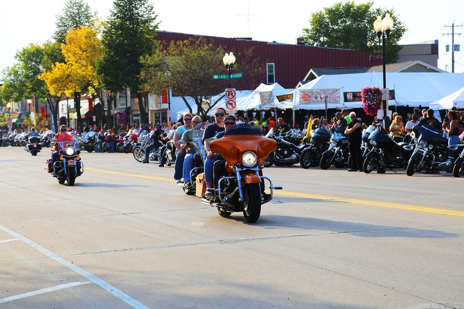 Motorcycle riders at Tomahawk Ride and Rall