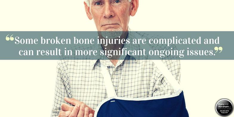 Fractured bones can result from a negligent security assault