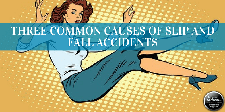 Three situations account for the majority of slip, trip, and fall incidents